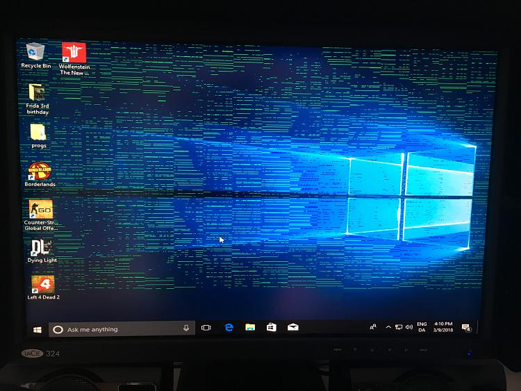 Green lines and booting issues after updating graphics