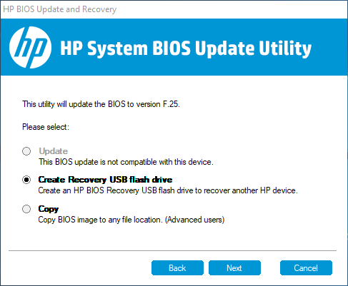 Trying to downgrade the latest HP Bios - Windows 10 Forums