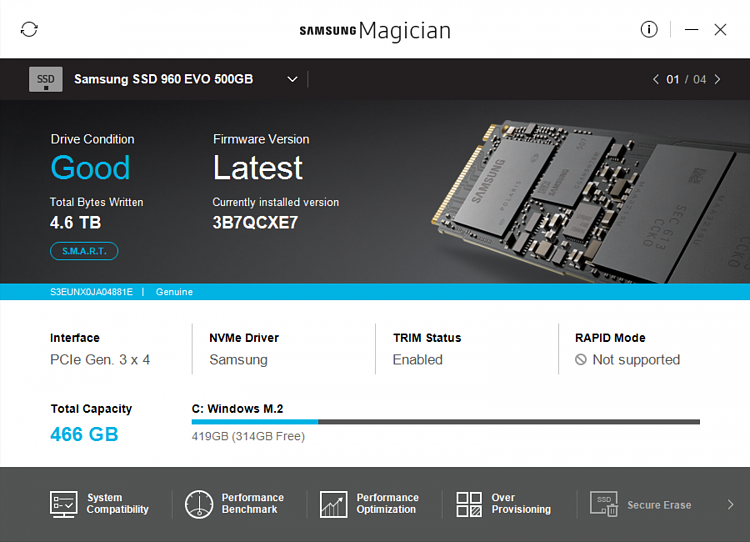 Samsung SSD Firmware Warning - Re: Magician Downloads - Page 9