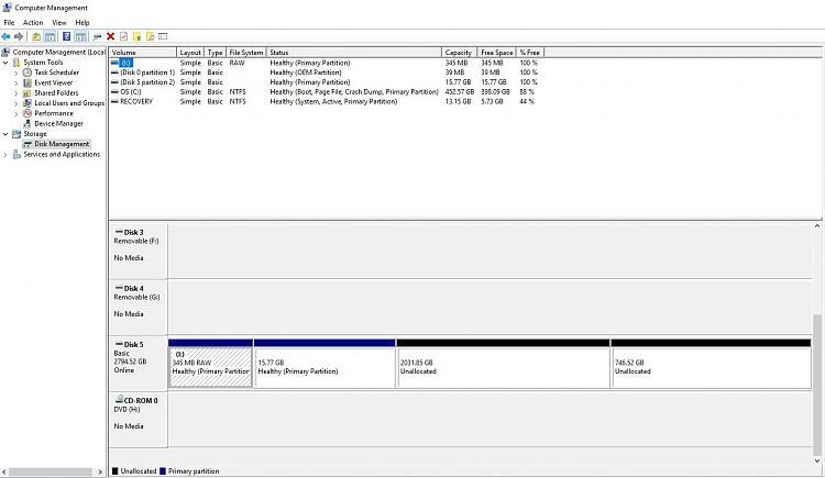 External HDD visable but suddenly gone unreadable - Windows