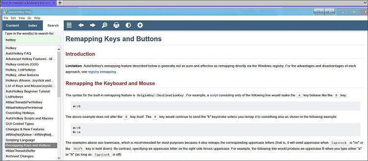 How to reassign a keyboard key combination to a specific key