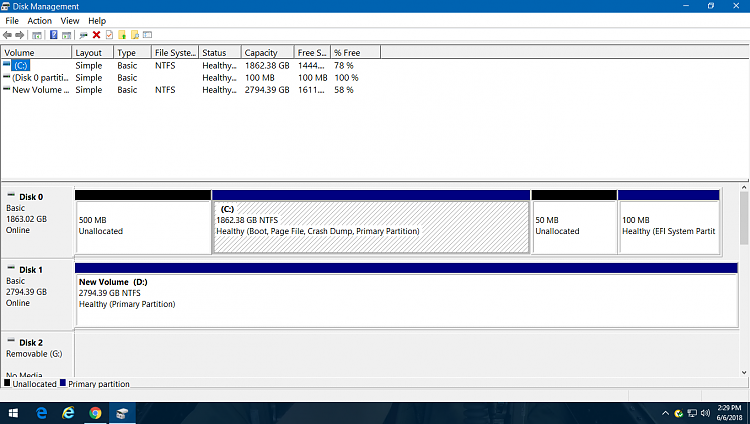 50 MB Unallocated space created.png