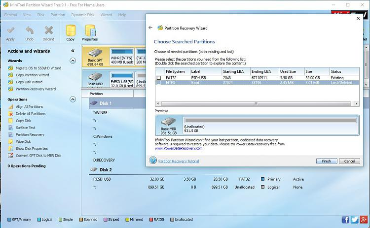 External Hard drive formatted / deleted while installing windows 10-powertool-9.1-scan-results-1.jpg