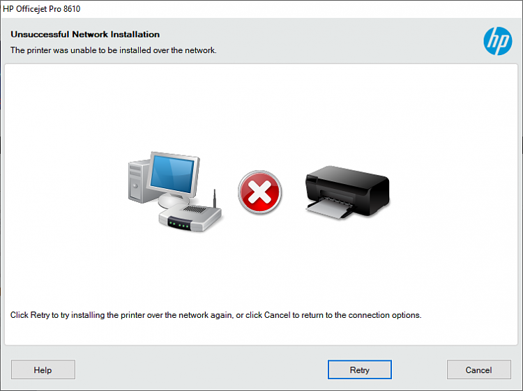 Some W10 Update is preventing my HP OfficeJet Pro 8610 from