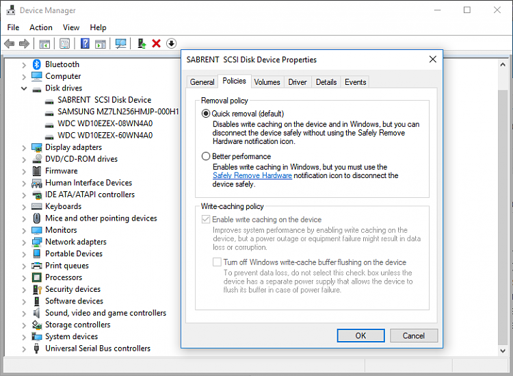 USB drive won't safely remove but other drives do.-disk-policy.png