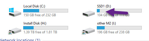 newly build pc - D drive shows space used but no contents.-ssd-disc-space-no-contents.jpg