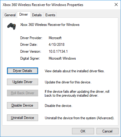 Xbox 360 controller wont connect to wireless reciever - Windows 10