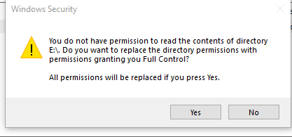 You Do Not Have Permission To Access This Device - Windows