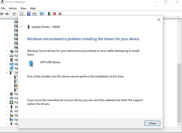 samsung mobile mtp device driver failed windows 7