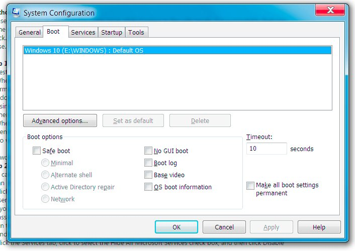 turn off check disk at startup windows 7