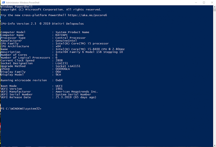 PowerShell script for CPU information, incl. CPUID-annotation-2019-05-29-175002.png