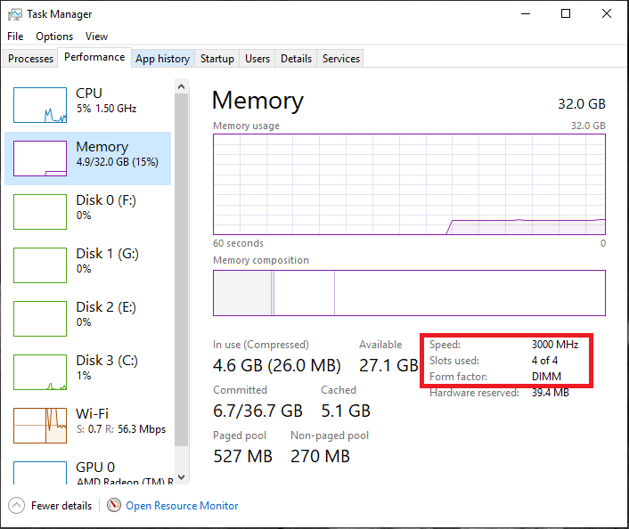 After 1903 update my RAM Speed is now 933 MHz instead of