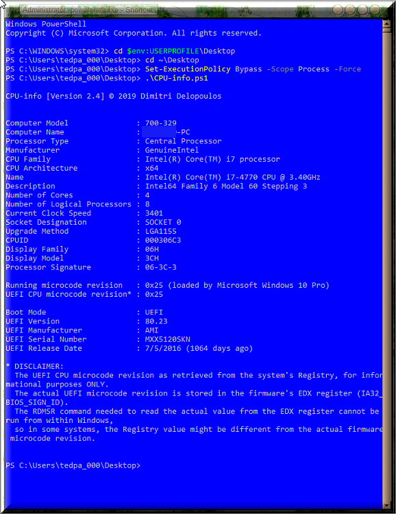 Click image for larger version.  Name:CPU-infoB.ps1 result with new version.png Views:2 Size:126.7 KB ID:236268