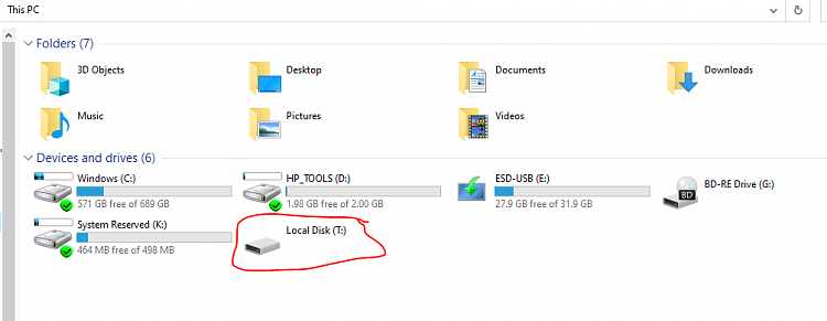 Options to recover a RAW recovery partition or create a new one-ten-forums-file-explorer-3-16-2020.png
