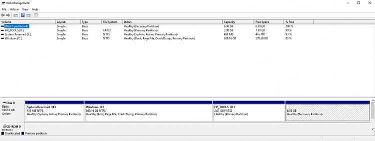 Options to recover a RAW recovery partition or create a new one-disk-management-after-chkdsk-b-v-format-3-18-2020.png