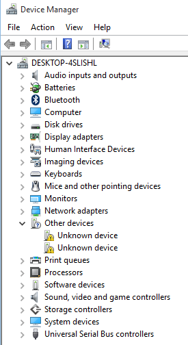 bluetooth driver not showing in device manager windows 10