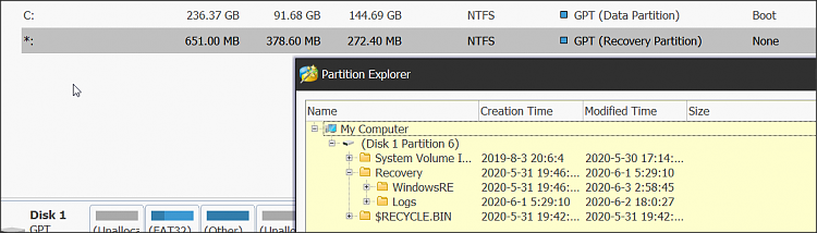 Weird disk partitions after a Windows upgrade - safe to delete?-1.png