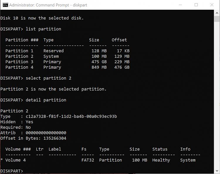 diskpart - detail partition Active flag missing-detail-partition.png