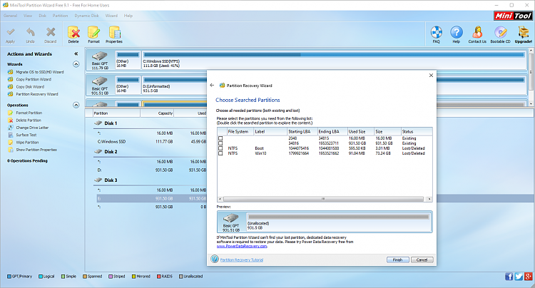 Hard drive turned RAW after changing sata port. Table resotration-partition-wizard-scan-results.png