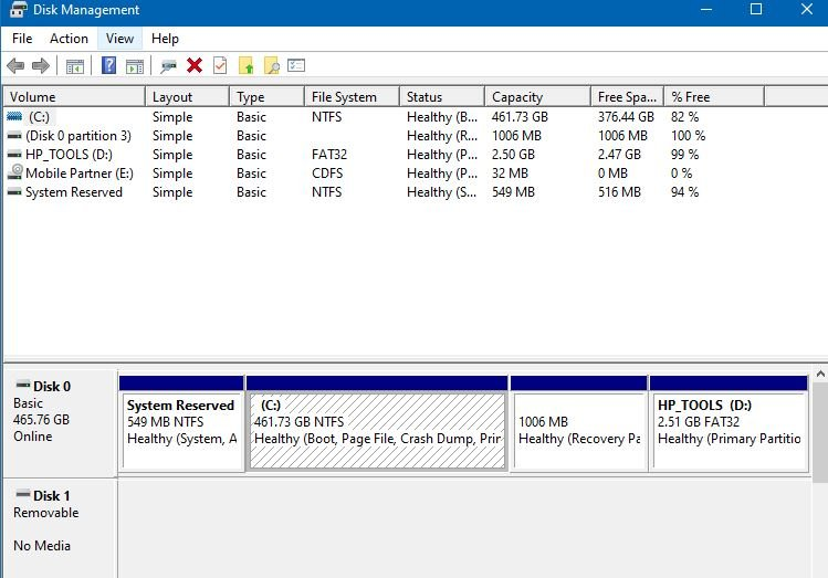 Cannot change unallocated space into partition with drive letter-view-now-disk-management.jpg