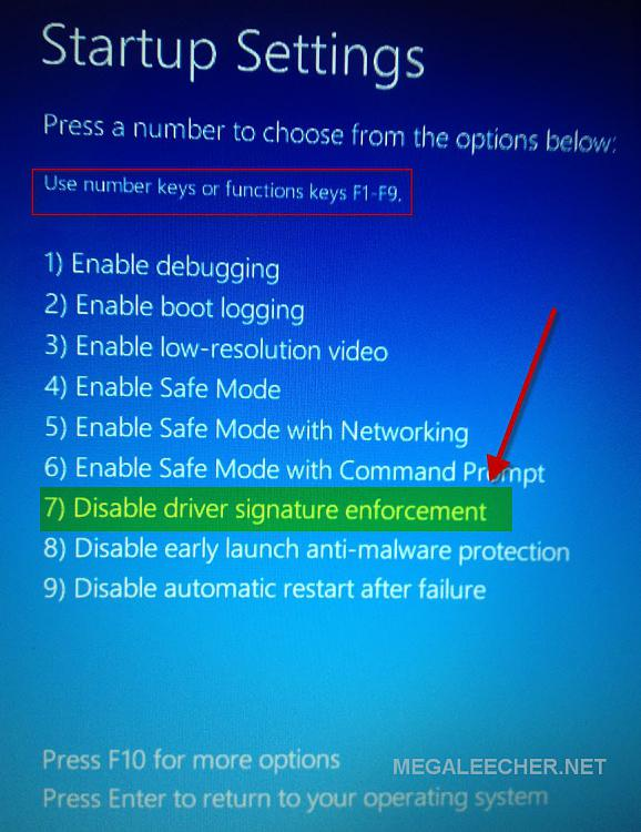 win 10 how to install unsigned driver
