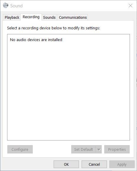 installing sound drivers for windows 10