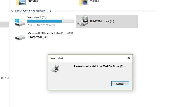 lg blu ray drive not recognized windows 10