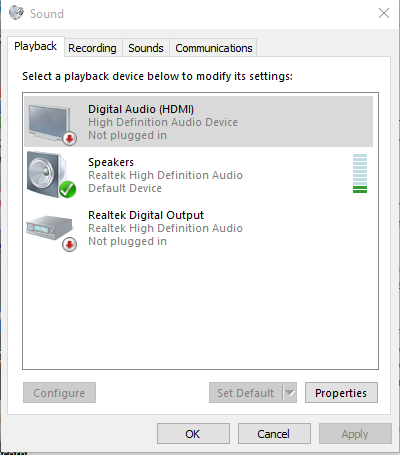 how to get speakers working on windows 10