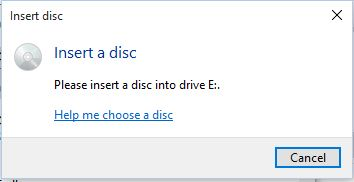 Dvd drive wont recognise disc, says please insert a disc into Drive E:-insert.jpg