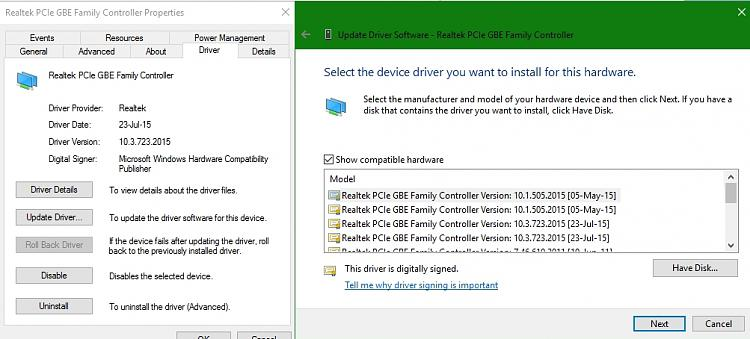 Driver Rollback unavailable in Device Manager Solved - Windows 10 Forums