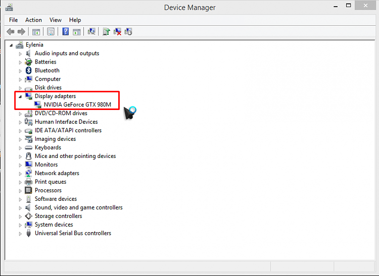 how to change display name in device manager