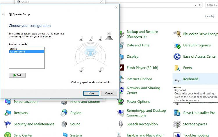 Logitech 5 1 center speaker not working  Solved - Windows 10 Forums