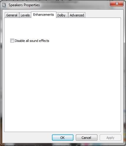 No audio enchancments options for sound? - Windows 10 Forums