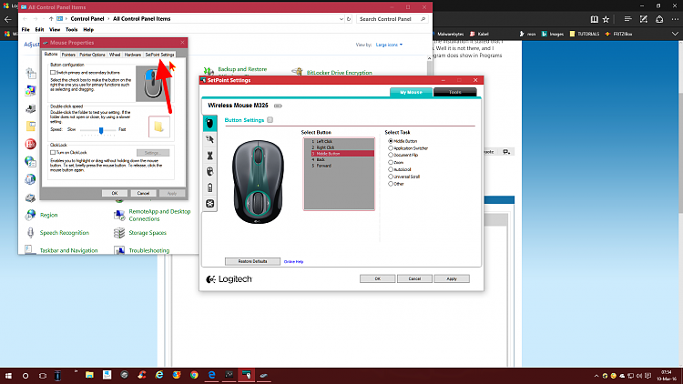 Logitech Setpoint nowhere to be found  Solved - Windows 10 Forums