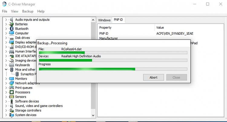 Driver backup tool for windows(desktop) 7/8/10 Solved