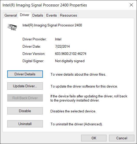 Intel avstream camera driver update