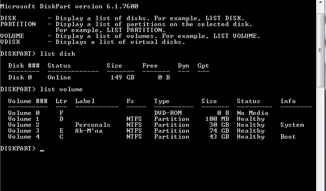 Click image for larger version.  Name:disk shown in cmd promt.png Views:1 Size:18.0 KB ID:77140