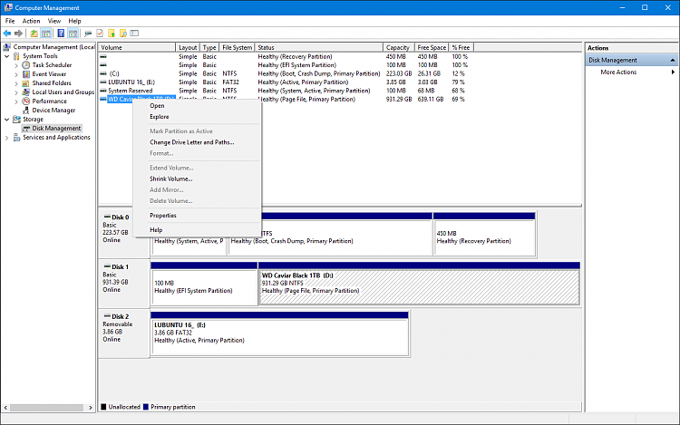 Format option in context menu in Disk Management disabled-disk_management_no_format.png