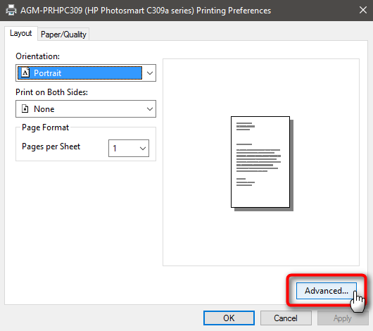 Changing the default paper size Solved - Windows 10 Forums
