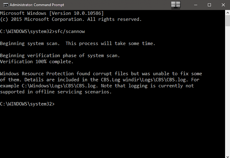 Windows Boot up Issue-scannow.png