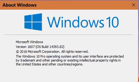 Windows 10 v1607: Logitech TRB-22 Wireless Trackman Problems...-latestwinver.png
