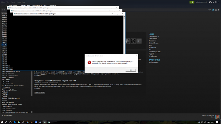 Click image for larger version.  Name:steam error.png Views:7 Size:218.7 KB ID:103618