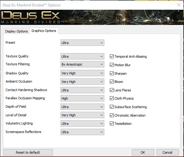 Click image for larger version.  Name:Deus Ex Mankind Devided Settings2.jpg Views:23 Size:81.9 KB ID:135845