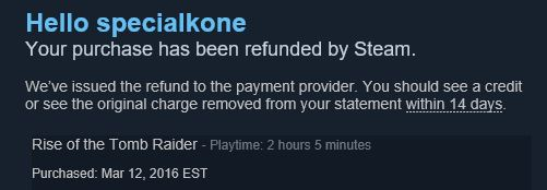 Click image for larger version.  Name:Steam Refund.JPG Views:17 Size:24.8 KB ID:69128