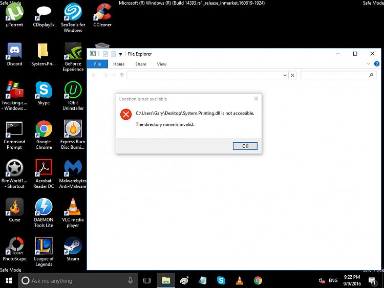 Cannot Delete Empty Folder