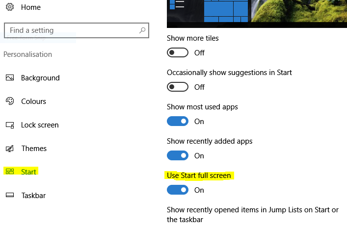 Two different start menu looks after Anniversary Update...-start.png