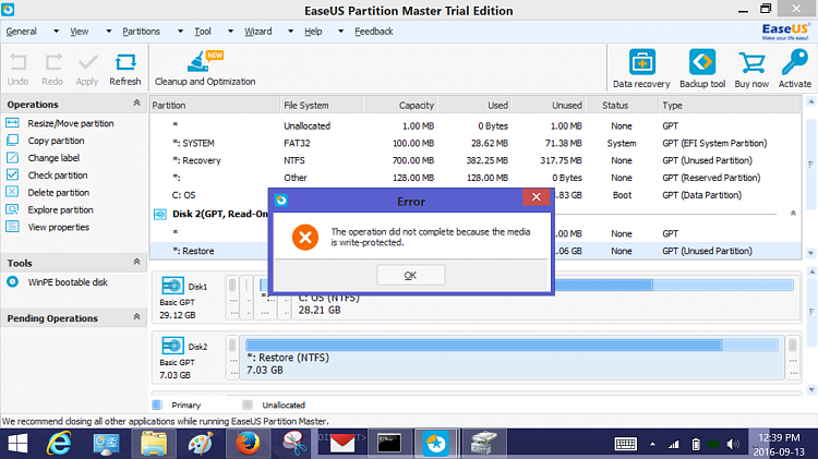 Click image for larger version.  Name:Disk 2 write protected 7gig recovery partion.png Views:8 Size:285.0 KB ID:101222