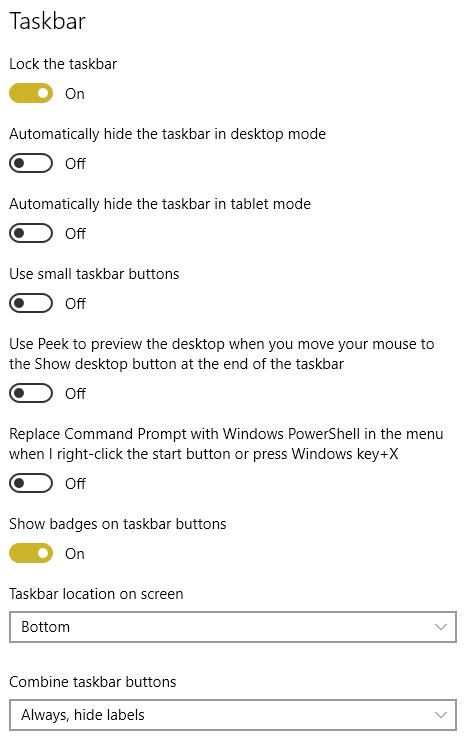 How do i disable always on-top taskbar ? Solved - Windows 10 Forums