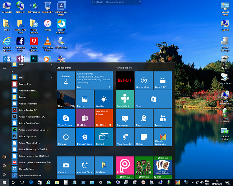 Click image for larger version.  Name:Windows 10 - 1607 - Start Menu Icons 2.png Views:5 Size:1.25 MB ID:104387