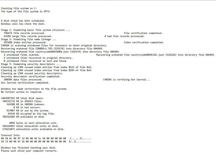 Click image for larger version.  Name:chkdsk results.JPG Views:6 Size:158.9 KB ID:104723
